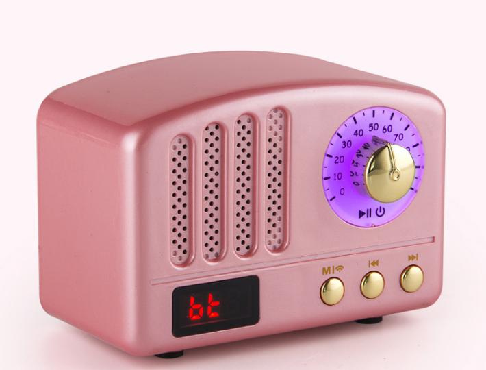 新款蓝牙音响无线收音机复古迷你促销电子礼品家居便捷插卡小音箱 10