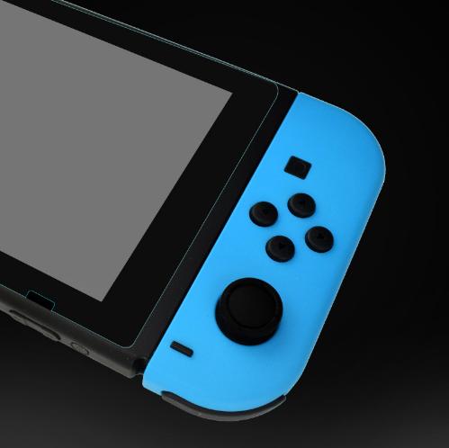 現貨Nintendo Switch鋼化膜套裝NS防塵塞套裝 Switch藍光高清膜 8