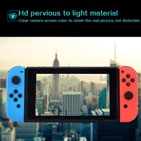 現貨Nintendo Switch鋼化膜套裝NS防塵塞套裝 Switch藍光高清膜 1