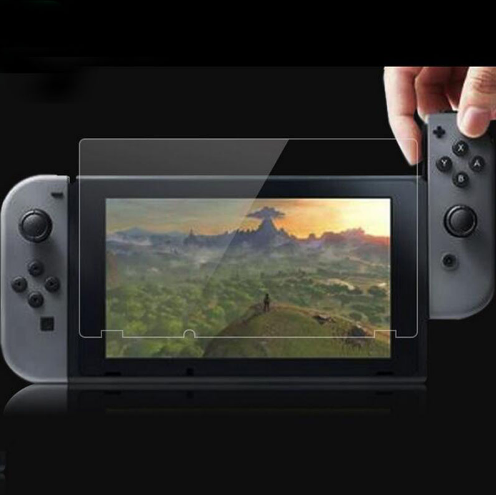 現貨Nintendo Switch鋼化膜套裝NS防塵塞套裝 Switch藍光高清膜 3