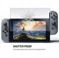 現貨Nintendo Switch鋼化膜套裝NS防塵塞套裝 Switch藍光高清膜 2