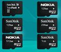 小容量TF卡32M 128M 256M 512M 1G 2G手機內存卡批發Micro SD裸卡 4