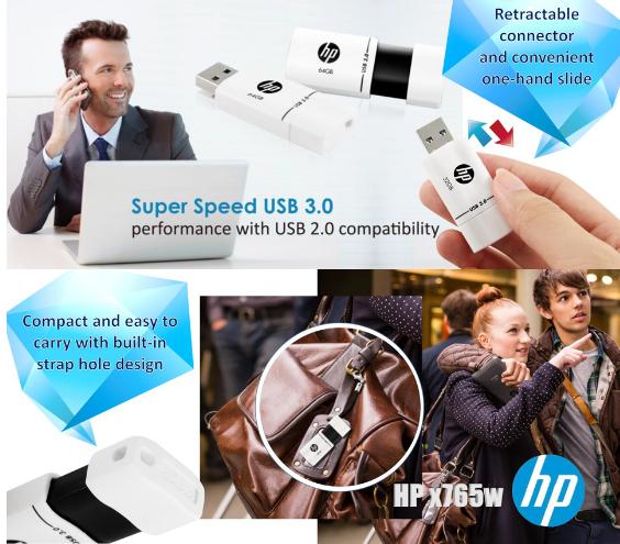 惠普mini usb闪存驱动器32GB 16GB 3.0笔驱动器x765w塑料高速闪存棒cle usb key16GB 14