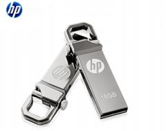 惠普V250W USB盘64GB金属Pendrive高速USB棒32GB笔驱动器2.0u盘