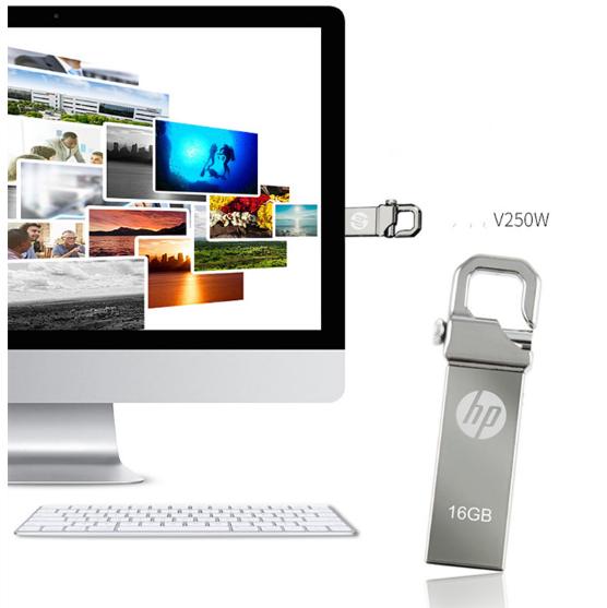惠普V250W USB盤64GB金屬Pendrive高速USB棒32GB筆驅動器2.0u盤 14