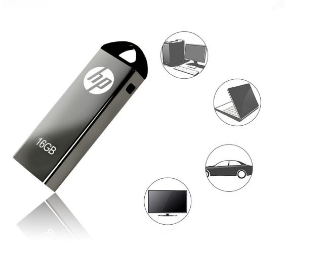 惠普V250W USB盘64GB金属Pendrive高速USB棒32GB笔驱动器2.0u盘 7