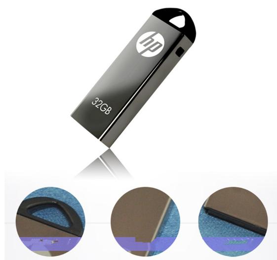 惠普V250W USB盤64GB金屬Pendrive高速USB棒32GB筆驅動器2.0u盤 10