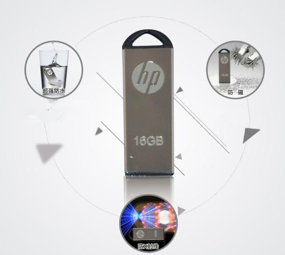 惠普V250W USB盤64GB金屬Pendrive高速USB棒32GB筆驅動器2.0u盤 18