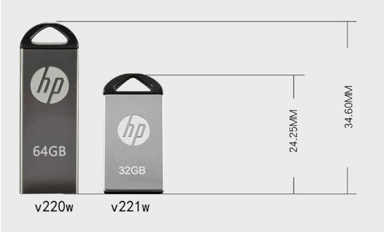 惠普V250W USB盤64GB金屬Pendrive高速USB棒32GB筆驅動器2.0u盤 5