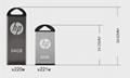 惠普V250W USB盘64GB金属Pendrive高速USB棒32GB笔驱动器2.0u盘 5