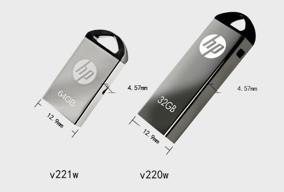 惠普V250W USB盤64GB金屬Pendrive高速USB棒32GB筆驅動器2.0u盤 4