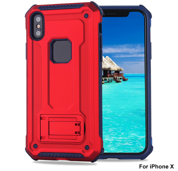 armor new iPhoneX back clip mobile phone shell Samsung S8 car magnetic CASE