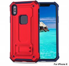 铠甲新款iPhoneX背夹手机壳三星S8车载磁吸手机壳二合一