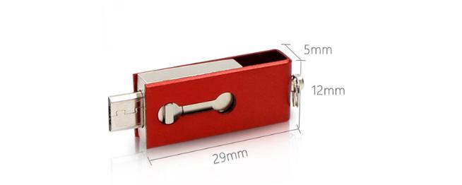 工厂直销新款创意双插头otg安卓手机电脑两用u盘32g旋转优盘3.0 5