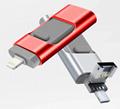 工厂直销新款创意双插头otg安卓手机电脑两用u盘32g旋转优盘3.0 9
