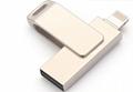 工厂直销新款创意双插头otg安卓手机电脑两用u盘32g旋转优盘3.0 18