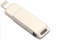 工廠直銷新款創意雙插頭otg安卓手機電腦兩用u盤32g旋轉優盤3.0 19