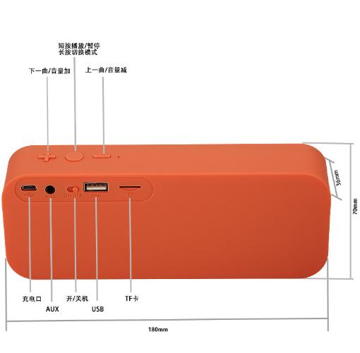 新款小海綿音響工廠戶外藍牙音響 防水低音炮創意迷你小音箱 16