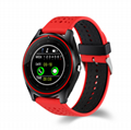 V10 Smart Watch with Camera Heart Rate Monitor Pedometer Smartwatch support sim