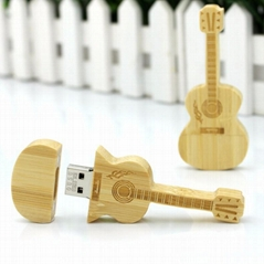 2.0USB disk Engraving logo Bamboo Wooden USB Flash Drive Memory card USB DISK