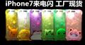 LED Flash TPU Case For iPhone7 8PlusCases Transparent Luminous