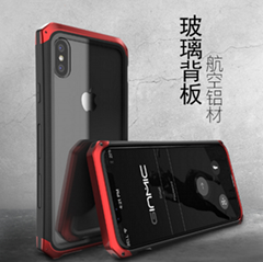creative protective shell drop transparent tideiphoneXshell tempered glass