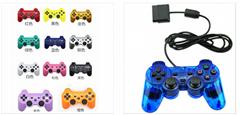 PS2手柄 PS2有線雙震動手柄 PS2綁定手柄 PS3遊戲手柄