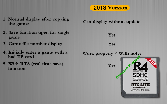 2018 R4ISDHC RTS Lite The silver R4i dual-core R4i gold pro 7