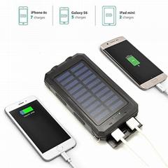 新款30000毫安聚合物手机移动电源充电宝点烟太阳能移动电源