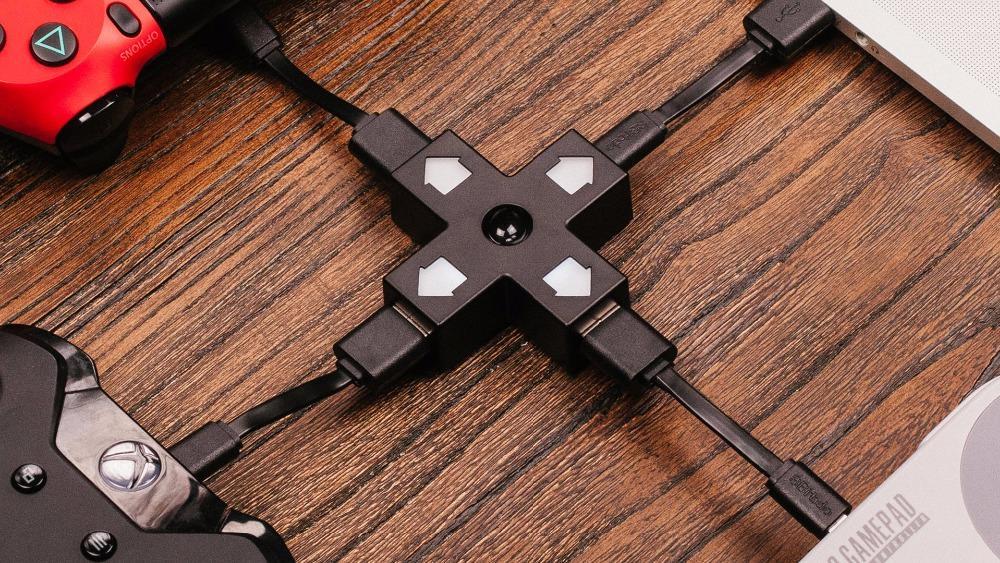 8BitDo Dpad USB hub 1 input 3 USB Charge Ports2.0 Directional pad shaped Hub 6