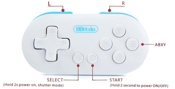 八位堂8Bitdo FC ZERO無線藍牙迷你小手柄 手機電腦安卓遊戲手柄 3