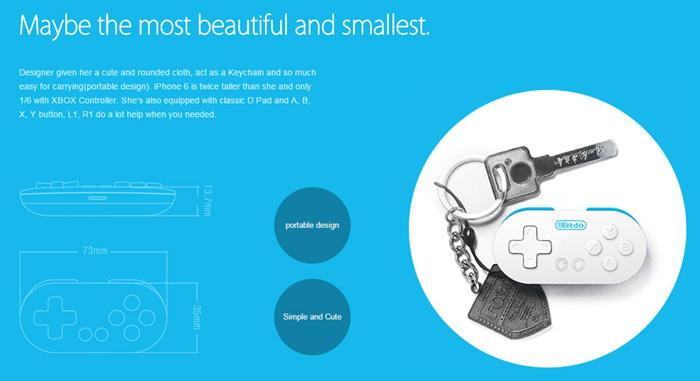8Bitdo Zero Mini Wireless Bluetooth V2.1 Game Controller Gamepad Joystick Selfie 5