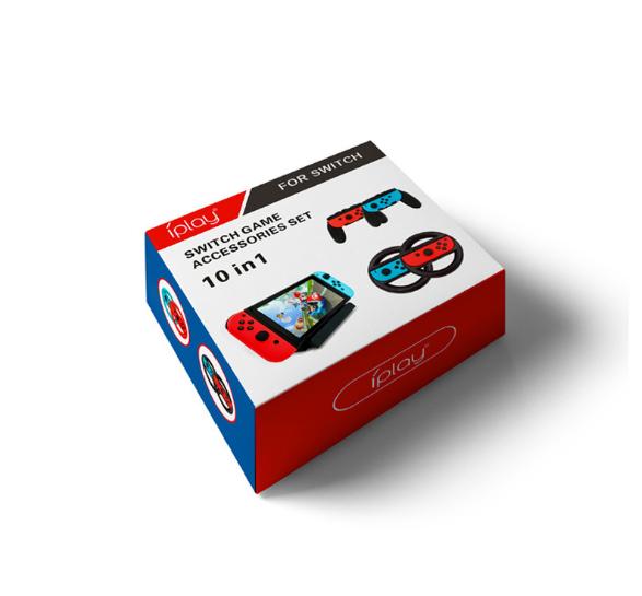 SWITCH手柄方向盘手握把主机座充TYPE-C充电线10合一套装游戏配件 8