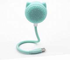 2018新款蓝牙音箱 USB自由弯曲小书灯 猫头小音箱 小台灯小音箱