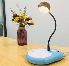 2018新款藍牙音箱 USB自由彎曲小書燈 貓頭小音箱 小臺燈小音箱