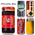iPhoneXs max drop-proof gamer case Retro game case GB Gameboy Tetris Phone Cases