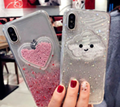 Cloud love for iPhone XR max glitter mobile phone shell case quick sand Epoxy