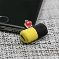 工厂直销新款卡通硅胶充电听歌二合一音频线苹果转接 7