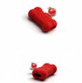 工厂直销新款卡通硅胶充电听歌二合一音频线苹果转接 2