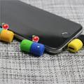 工厂直销新款卡通硅胶充电听歌二合一音频线苹果转接 12