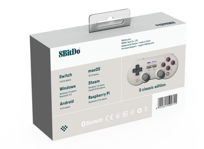 8bitdo八位堂SN30ProG經典版無線藍牙遊戲手柄Switch震動連發體感 6