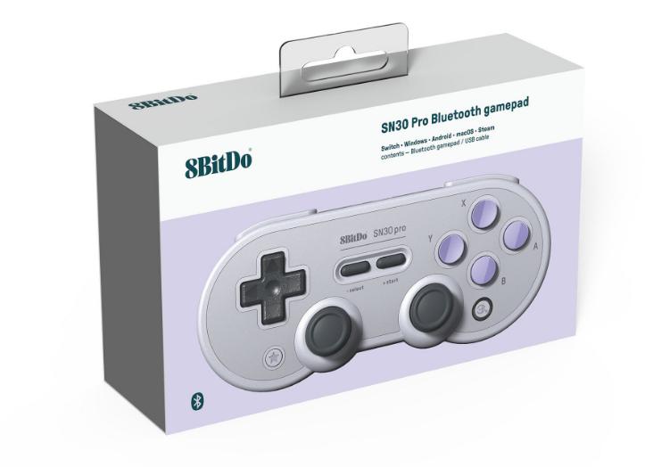 8bitdo八位堂SN30ProG經典版無線藍牙遊戲手柄Switch震動連發體感 7