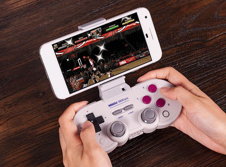 8bitdo八位堂SN30ProG经典版无线蓝牙游戏手柄Switch震动连发体感 12