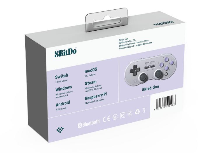 8bitdo八位堂SN30ProG经典版无线蓝牙游戏手柄Switch震动连发体感 18