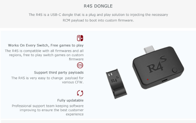 R4S Dongle R4s electronic dog NS atmosphere U disk SWITCH game simulator 4