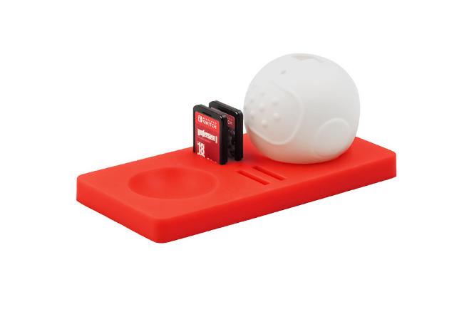現貨switch精靈球保護墊三合一套裝 switch精靈球收納卡帶硅膠墊 10