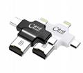 四合一多功能tf卡读卡type-c接口适用于苹果安卓手机otg读卡器 1
