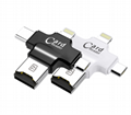 4-in-1 multi-function tf card reader