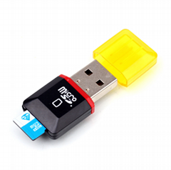 讀卡器多功能 microSD讀卡器 手機USB內存卡 保証2.0高速讀卡器