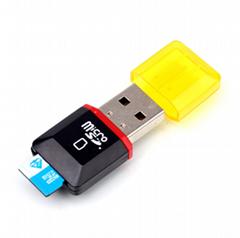 读卡器多功能 microSD读卡器 手机USB内存卡 保证2.0高速读卡器